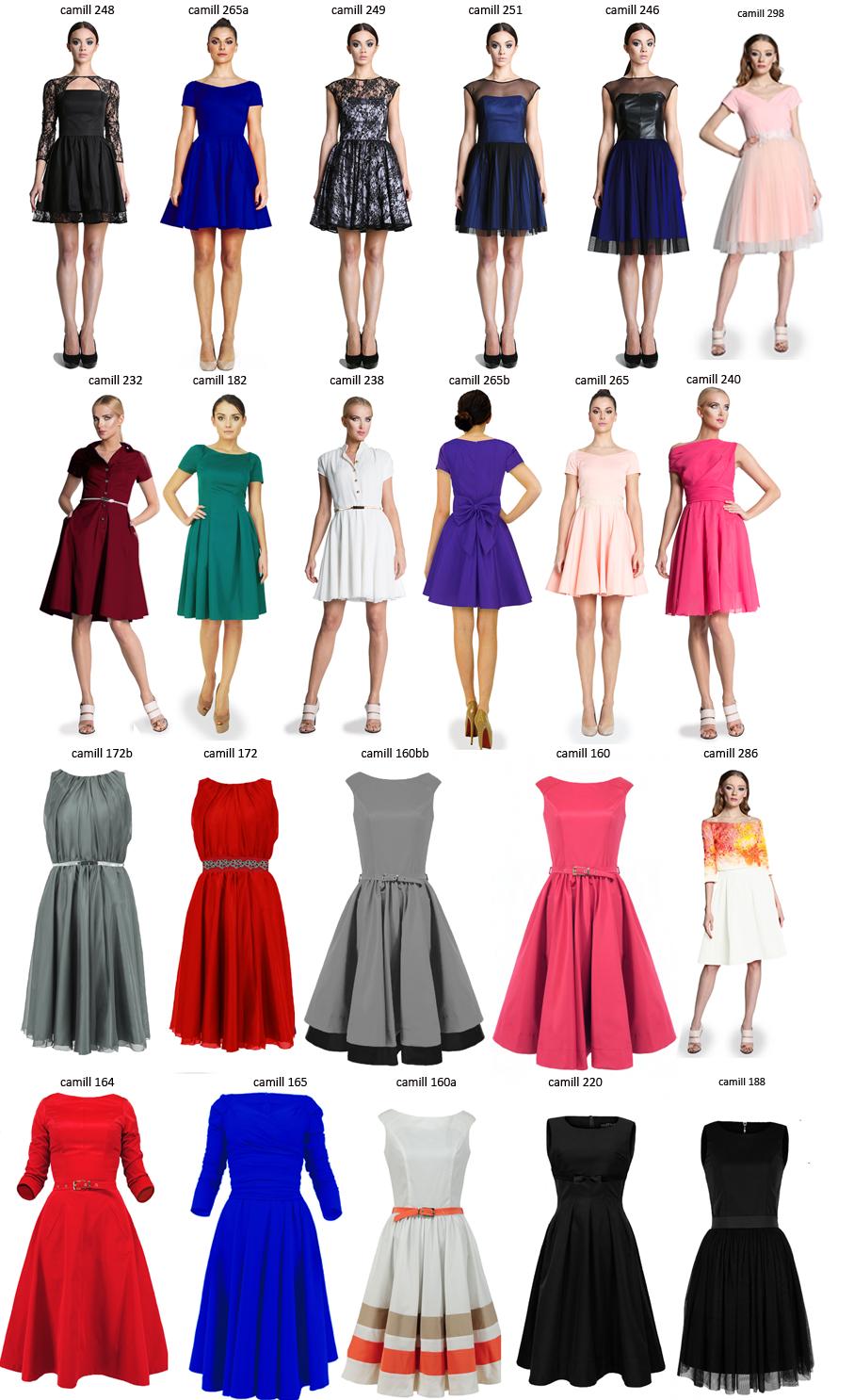 Camill 016 Bordowa sukienka z koła dekolt V r.42