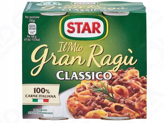 Star Gran Рагу соус с классико для спагетти 2шт