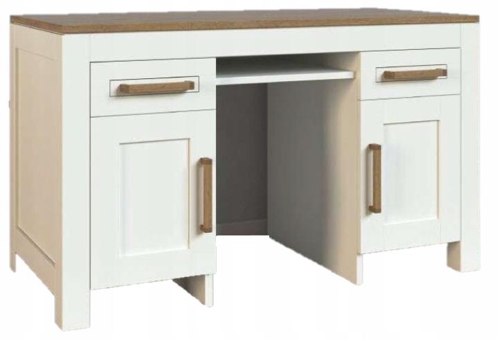 Biela písací Stôl Italia - nábytok z prírodného breza drevo