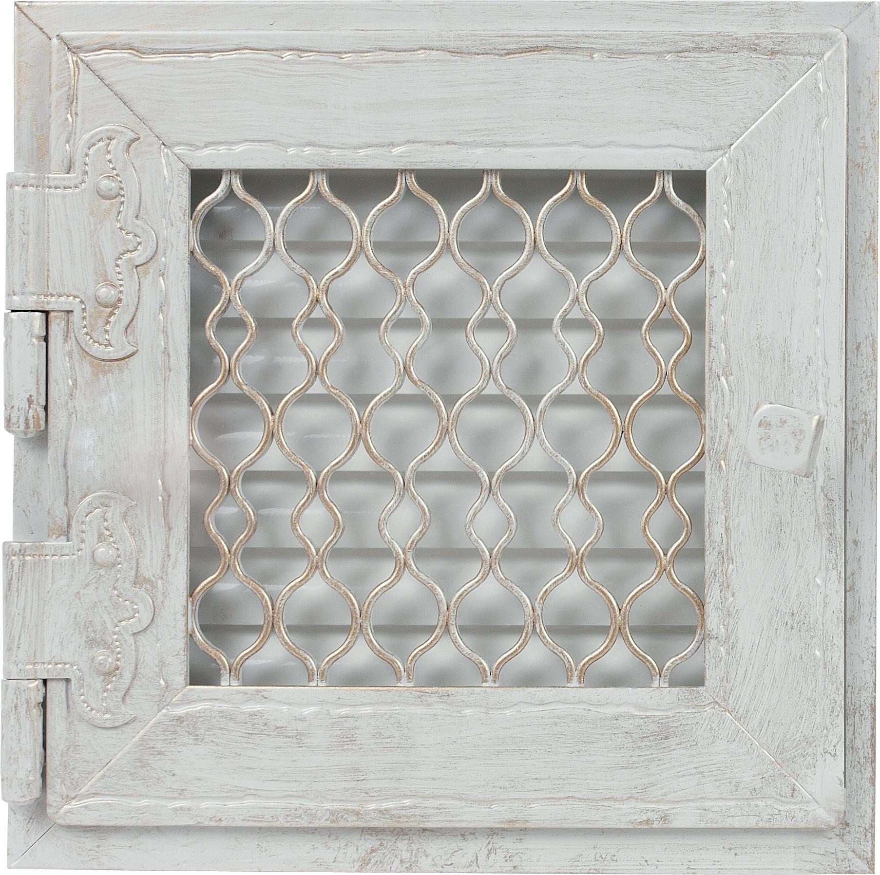 Retro jednoduchá starožitná biela mriežka, otvorená 17