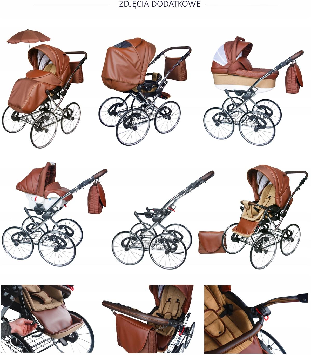 Купить Классическая многофункциональная коляска RETRO 3in1 17 '| Серый на Otpravka - цены и фото - доставка из Польши и стран Европы в Украину.