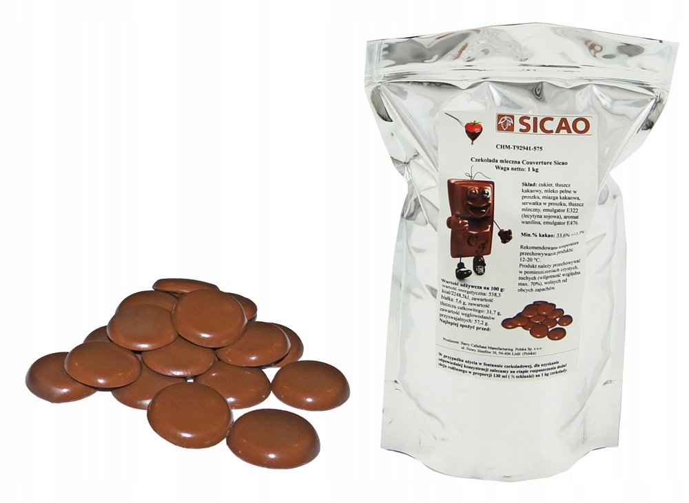 Item The BEST MILK Chocolate 1 KG for fountains, fondue