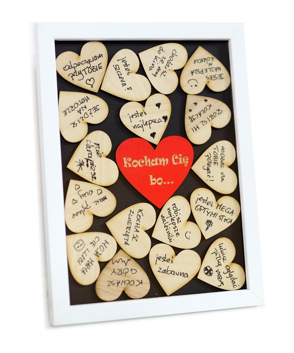 Darček pre Valentína 3D rám píše pre to, čo milujete