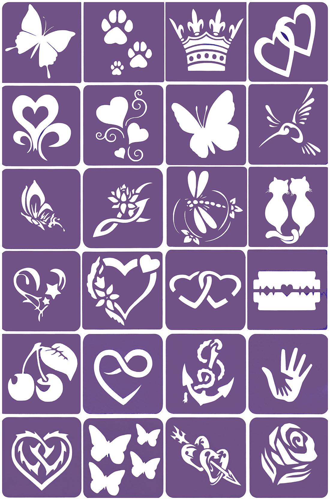 Szablony Do Tatuazy Z Brokatu Henna Komplet No 11 7848338826 Allegro Pl