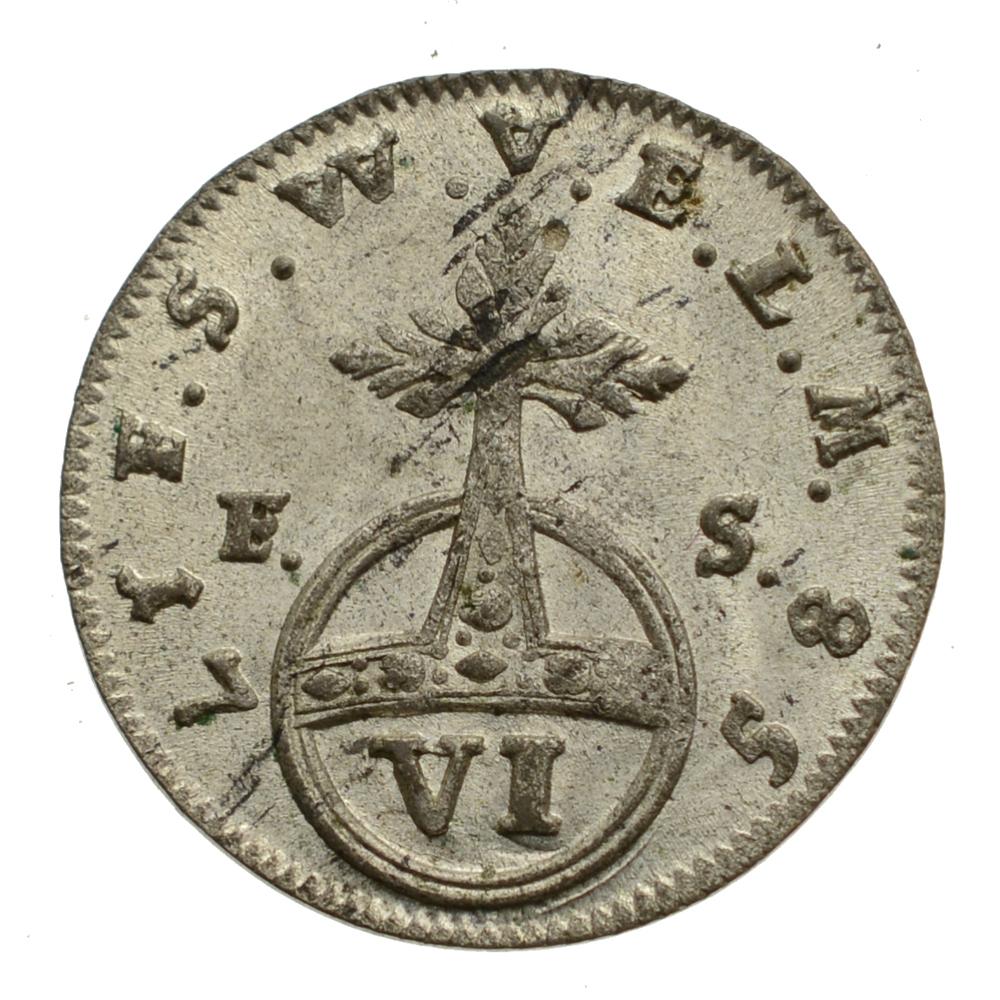 Nemecko - Sasko-Weimar - 6 Fenigov 1758.