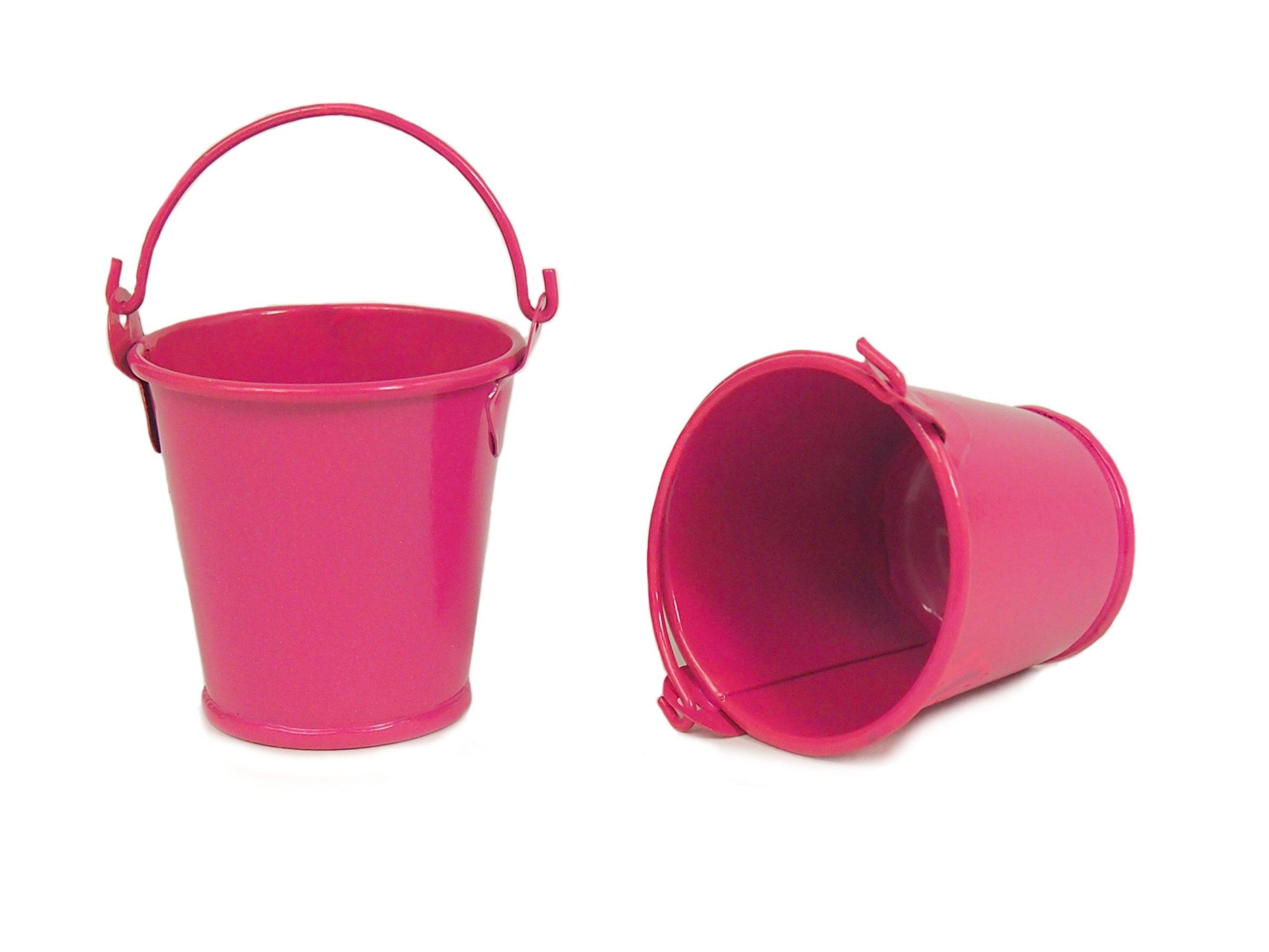 55 Cm Mini Doniczka Wiaderko Różowe Ocynk