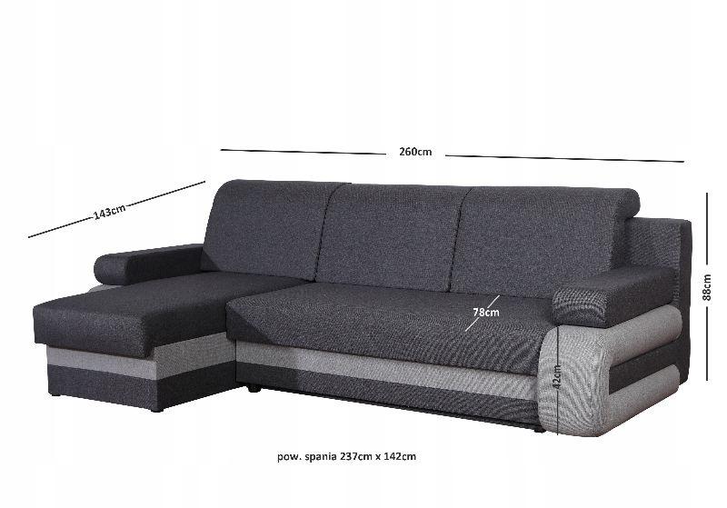 MODERN CORNER CORN RELAXATION Farbwahl! Die Breite der Möbel 260 cm