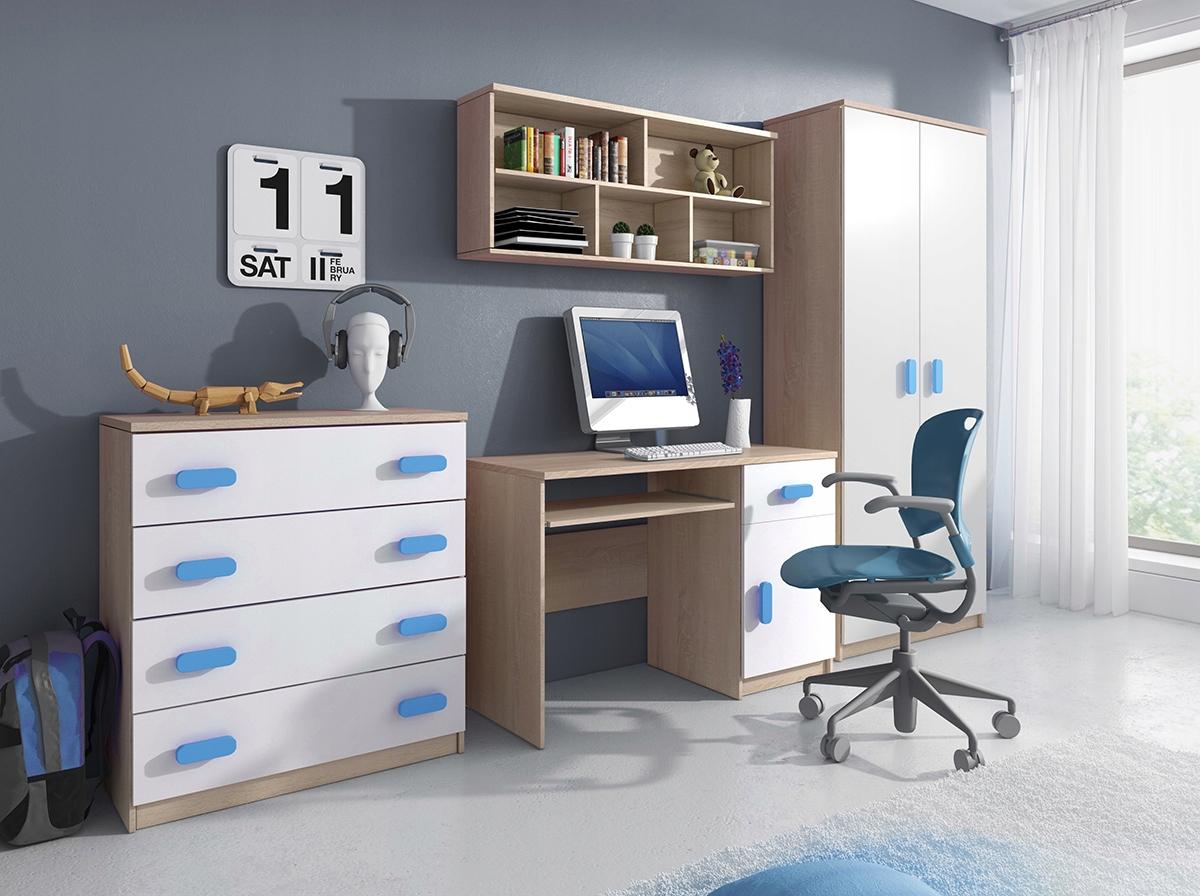 Detský nábytok set Skriňa police tabuľka BIELA
