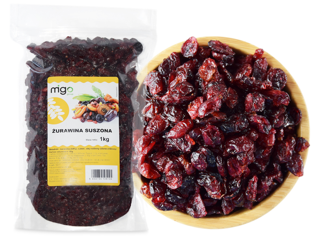Item CRANBERRIES DRIED with NO PRESERVATIVES 1kg