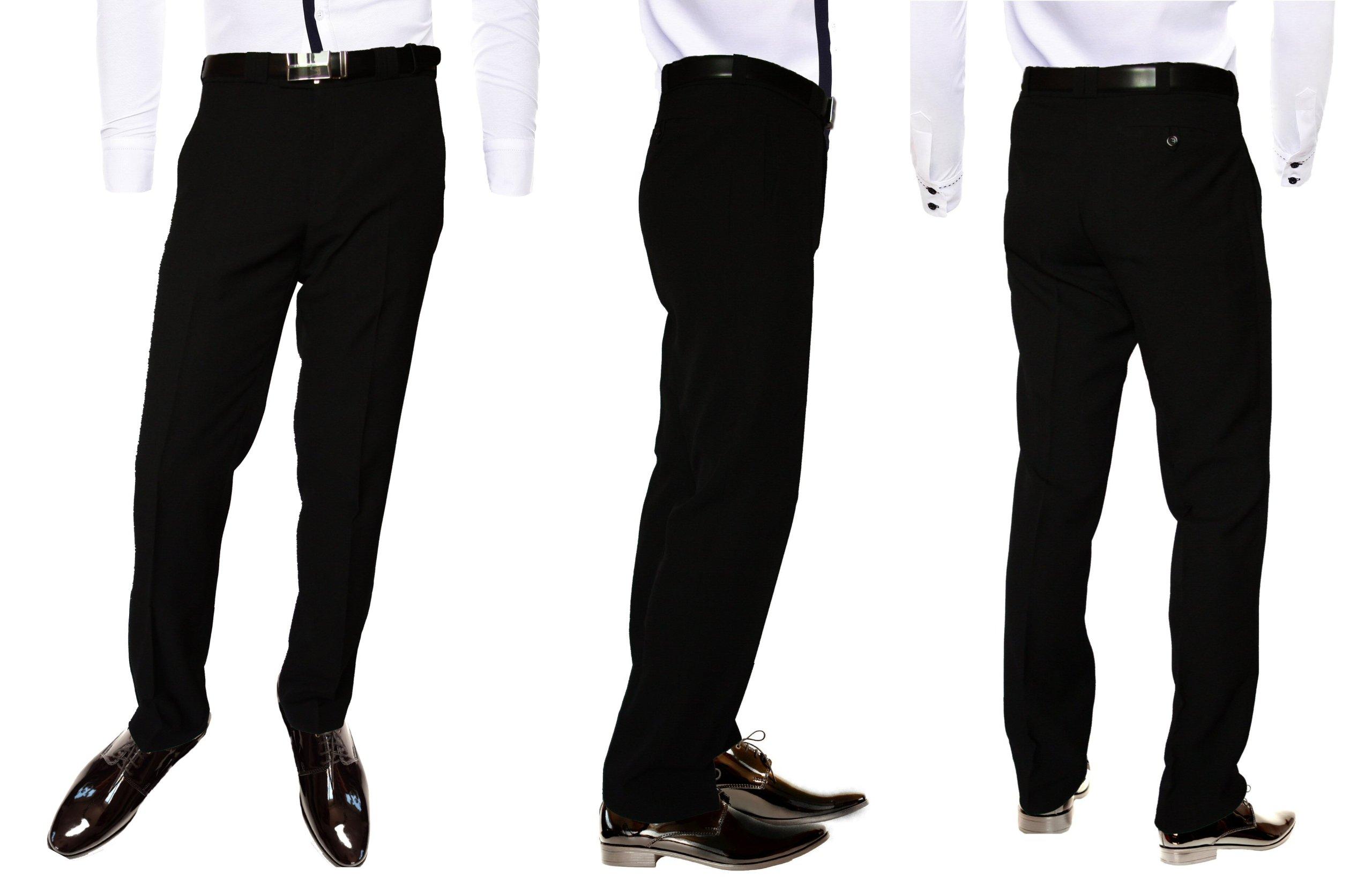 Spodnie Męskie 150186 Czarne Garniturowe 7441721928 Wizytowe OOwqrdT