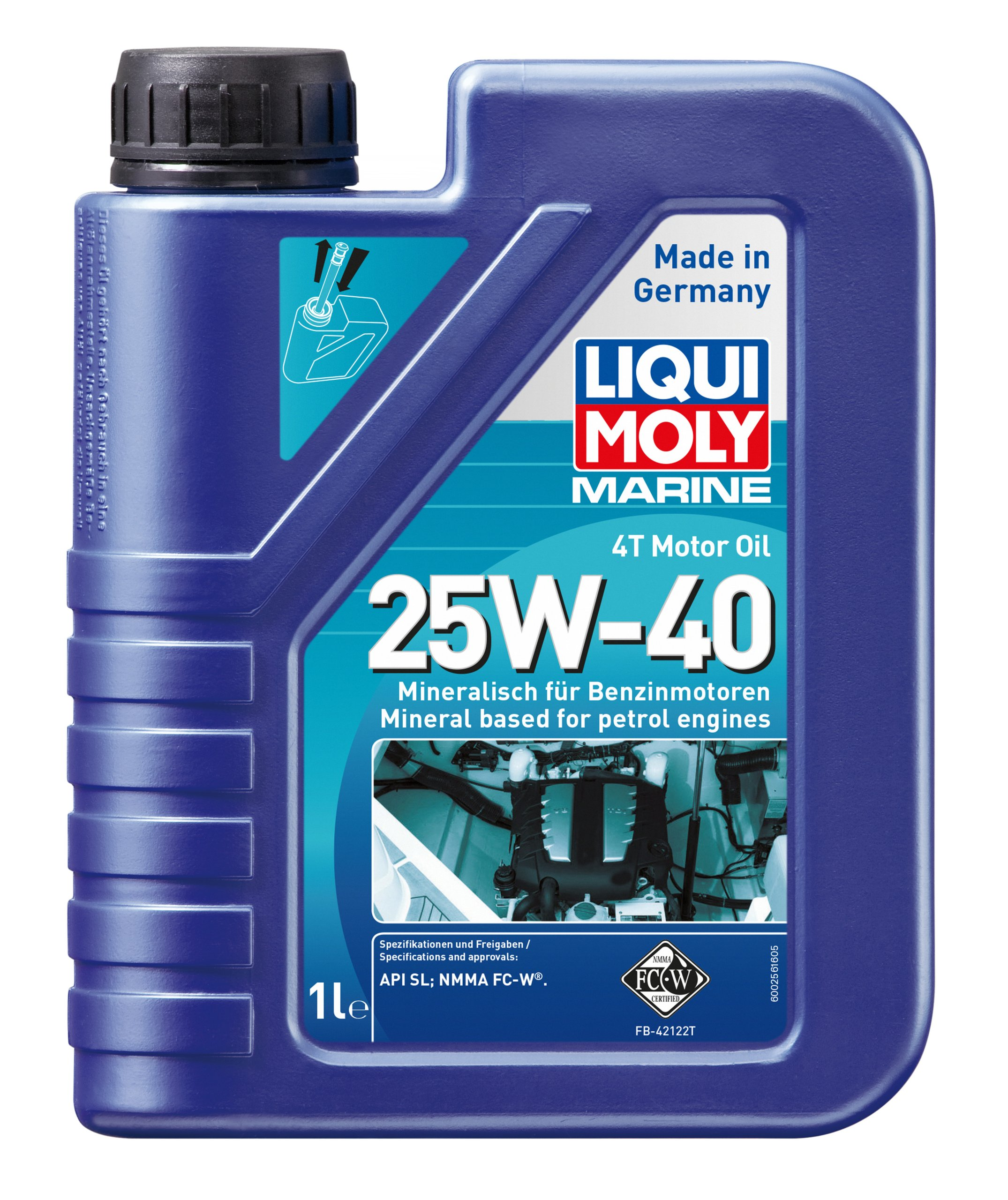 motorový olej zaburtowego czterosuwa 4t-taktné 25W/40 5LIT