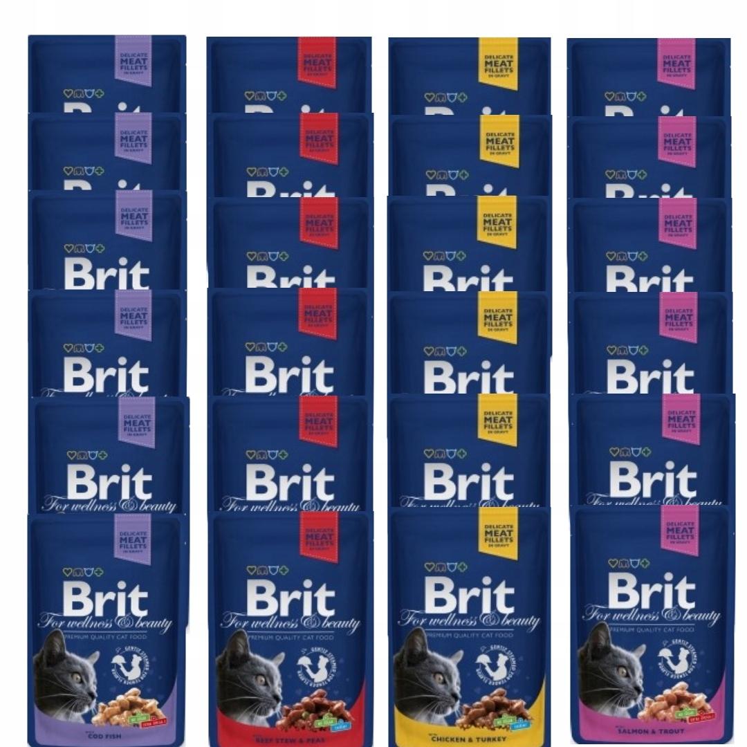 Brit premium kot 24x100g 4 smaki dla kota MEGA