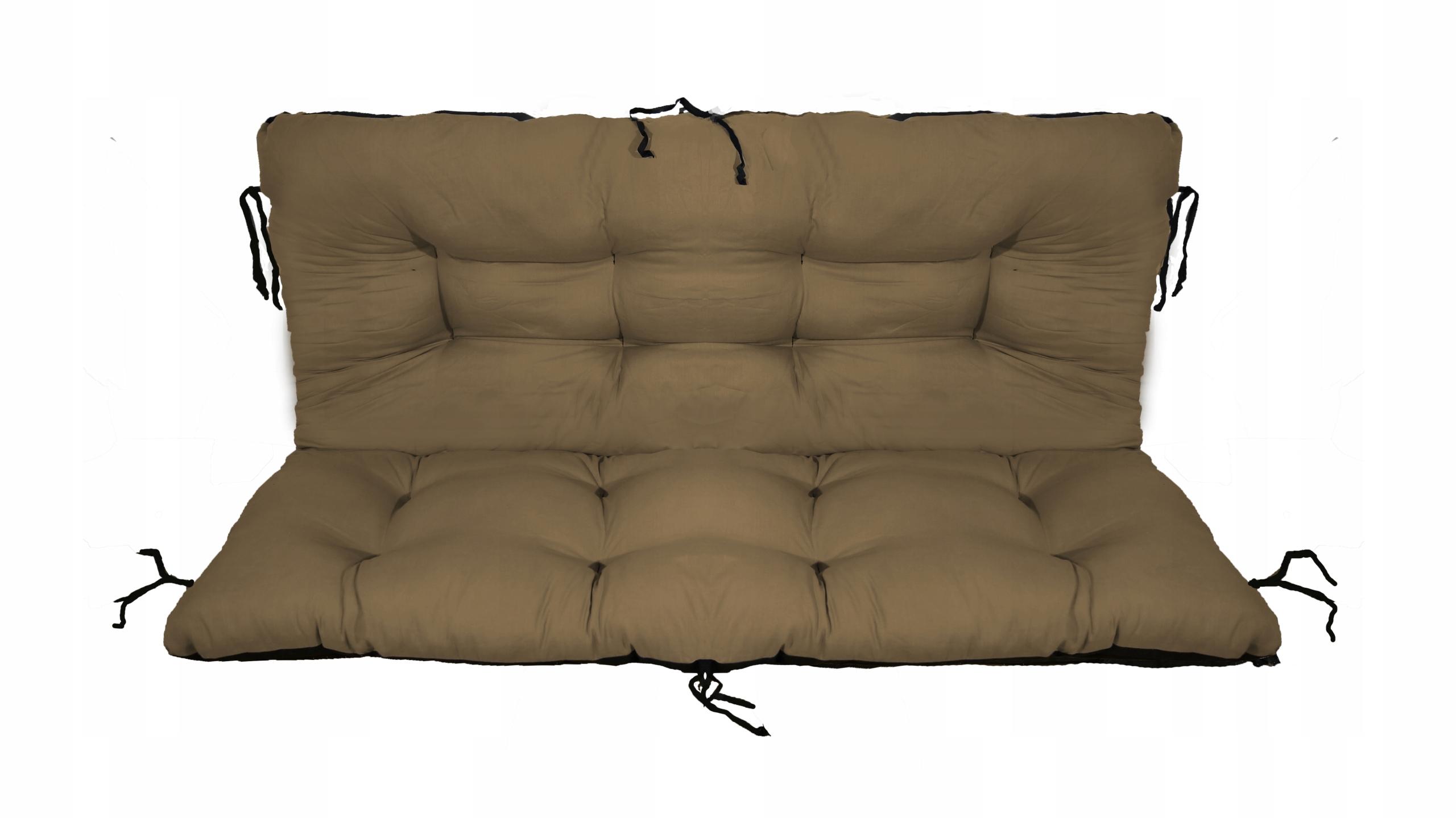 Подушка для садовой качели 140х60х50 бежевая