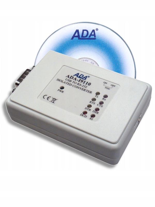 ADA-I9110 USB CONVERTER NA RS-232 S IZOLÁCIU GALWA