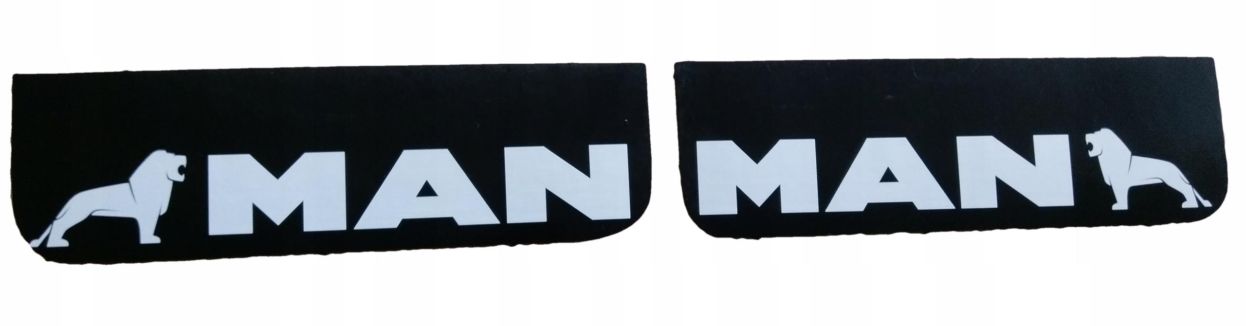 Крышка фартука Mudflap MAN logo ЦЕНА на 2 ШТ.