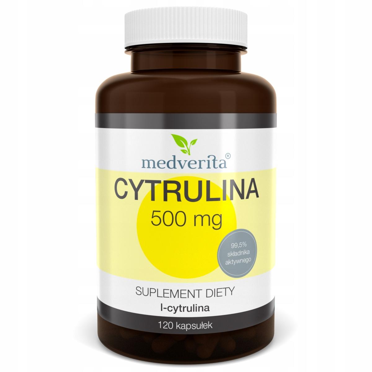 Cytrulina 500 mg L-cytrulina 99,5% - 120 kapsułek