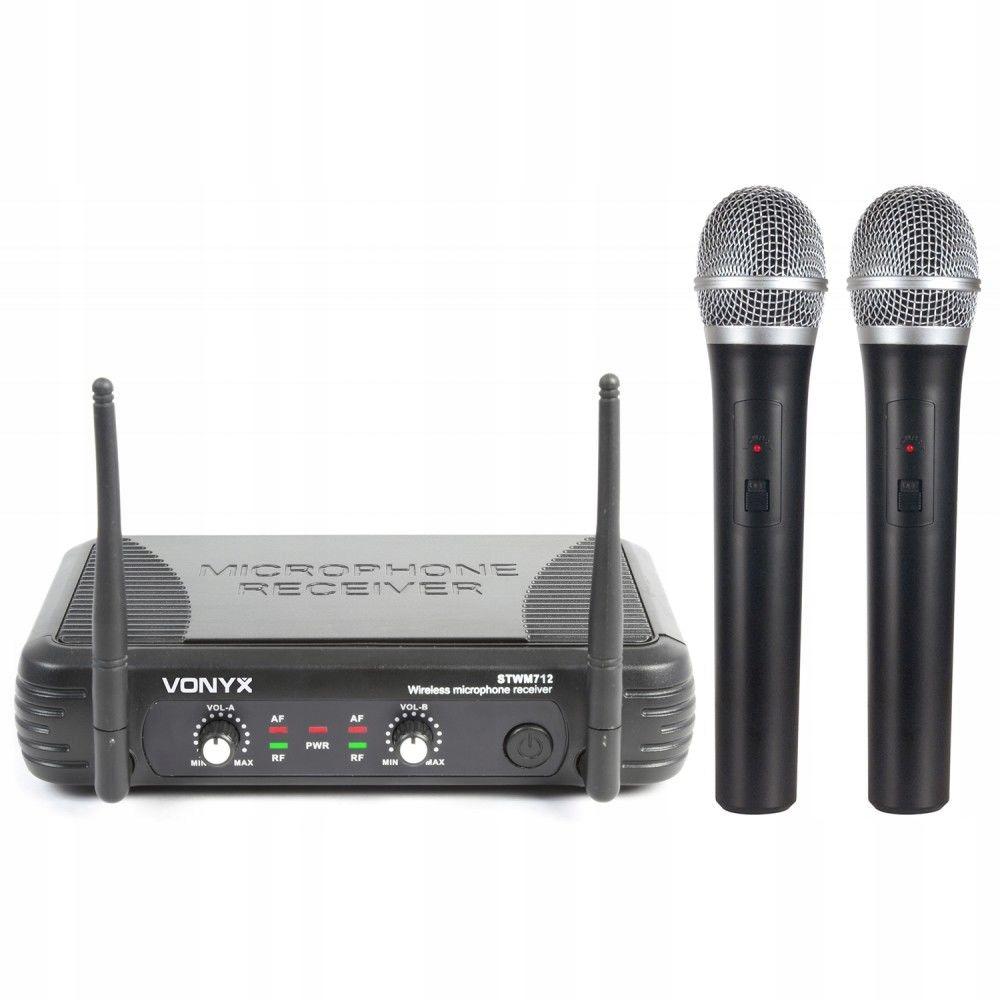 Bezdrôtový mikrofón X2 ks + karaoke základná udalosť