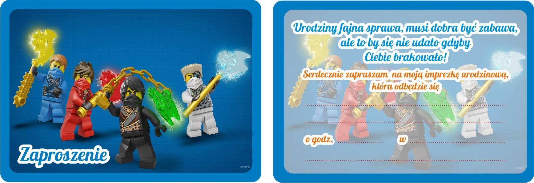Zaproszenia Urodzinowe Dla Dzieci Lego Ninjago 7528278720 Allegropl
