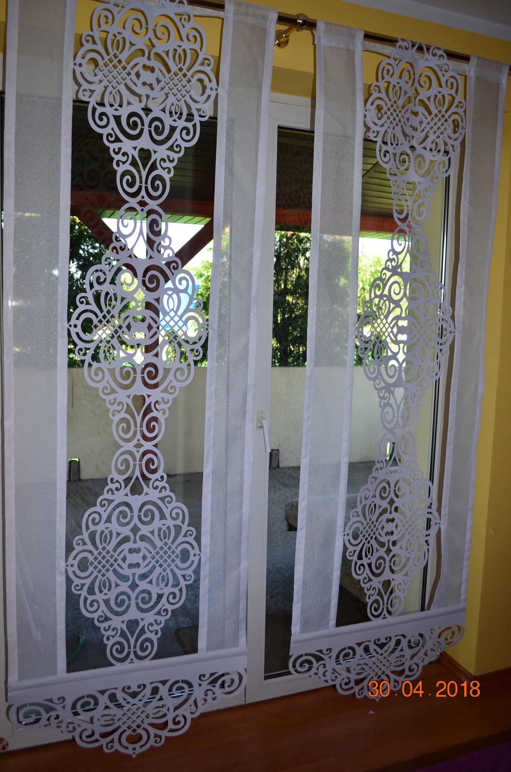 Firany Firanki Ażury Panel Z Witrażem Na Balkon