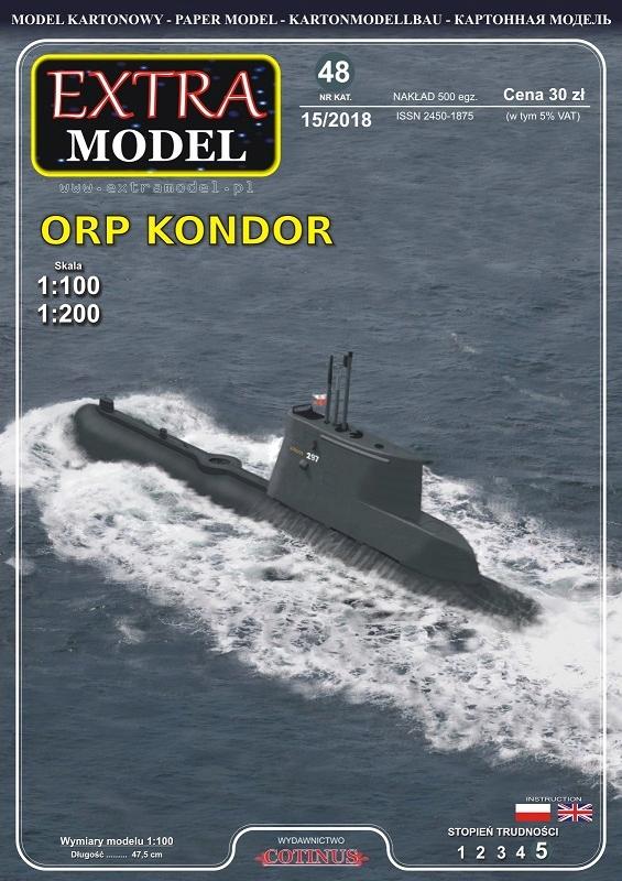 EXTRA MODEL_Okręt_ORP Kondor_ 2 модели 1/200 1/100 доставка товаров из Польши и Allegro на русском