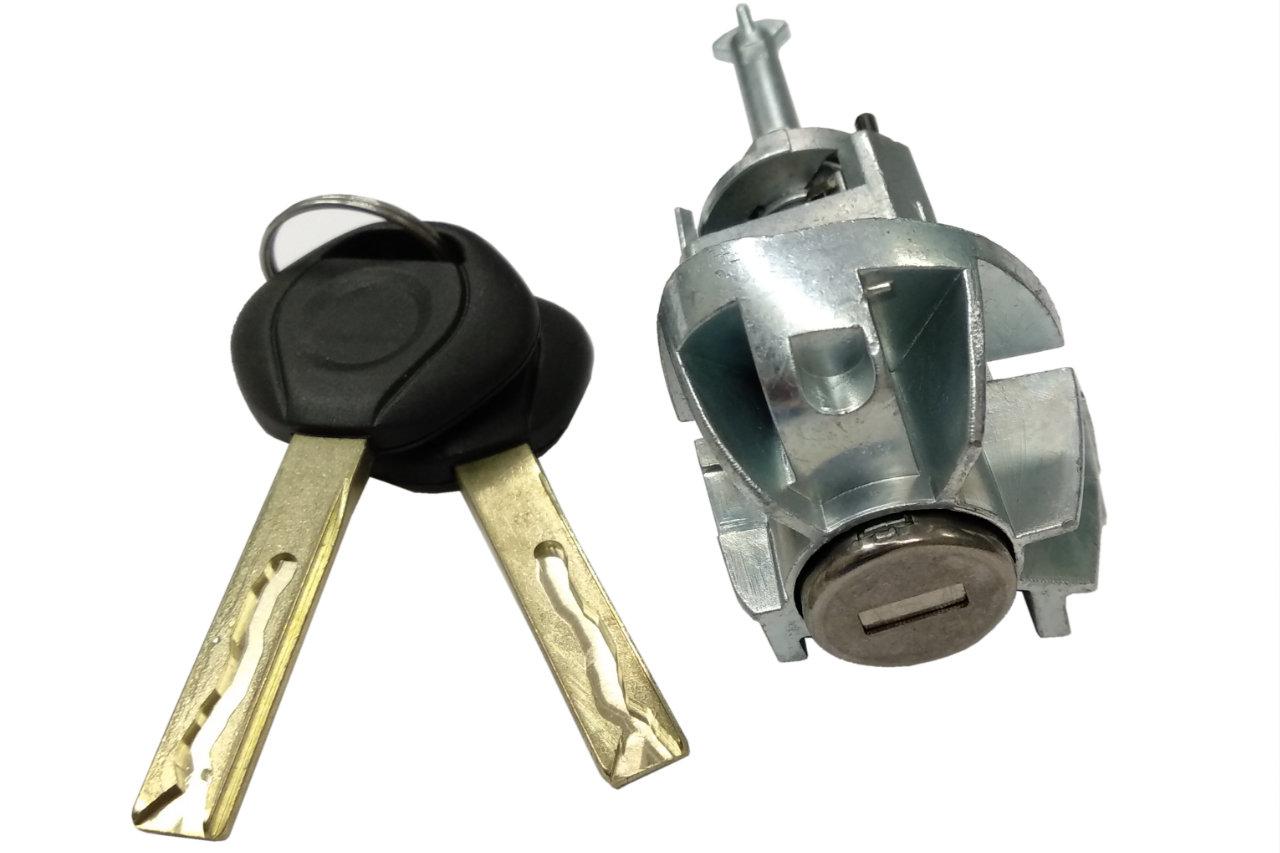 bmw 3 e46 вставка замка двери слева + 2x ключ