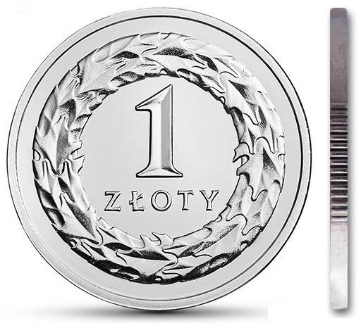 Монета 1 злотый 2009 монетный двор из мешочка