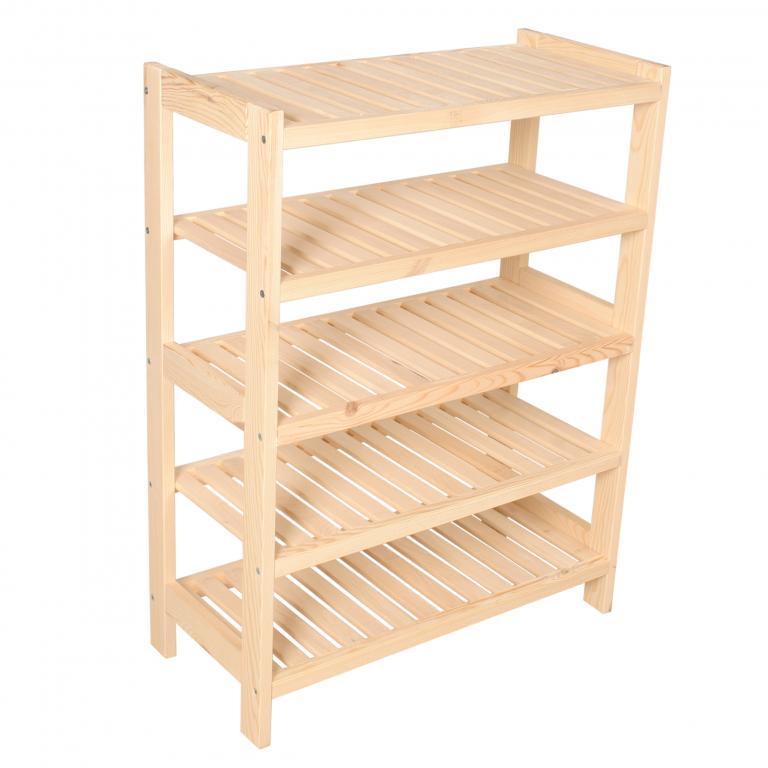 Книжный шкаф 5 полок из сосны 93x50x33 см