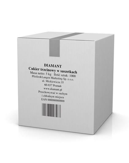 Liečebný ústav DIAMANT hnedý cukor sáčky 1000 x 5 g