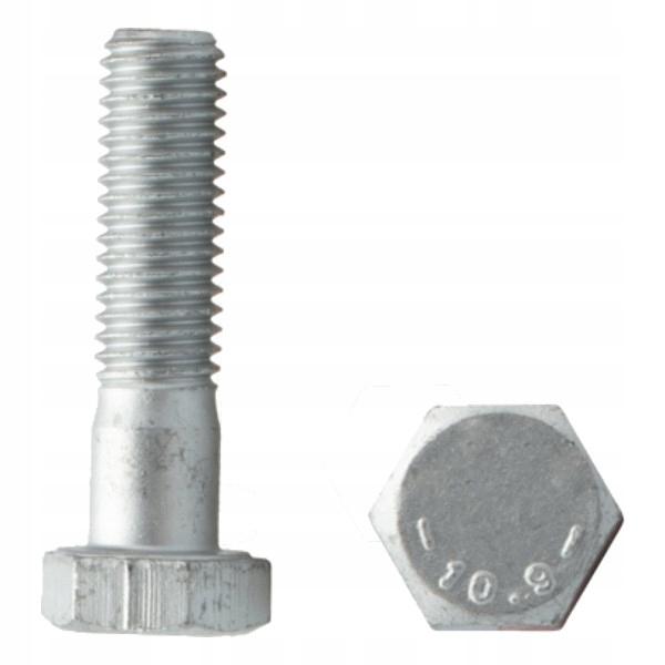 Śruba łeb 6-kąt DIN 931 M16x60 10.9 oc płat 10sz