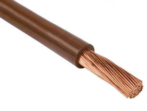 Провод одножильный 0,75мм2 (коричневый)