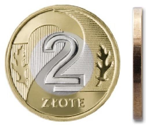 2 злотых монетный двор 2006 г.