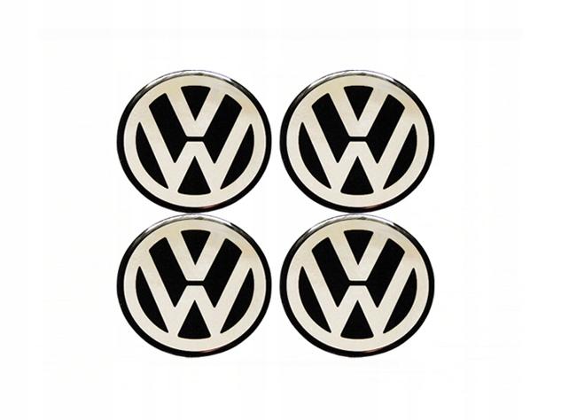 VW 60-мм ЭМБЛЕМНЫЕ НАКЛЕЙКИ НА КОЛЕСАХ ALU RIMS