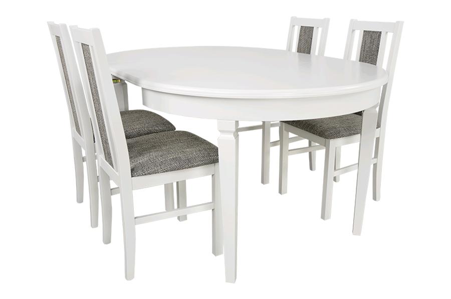 комплект круглый стол раскладной для 210 и 4 стулья