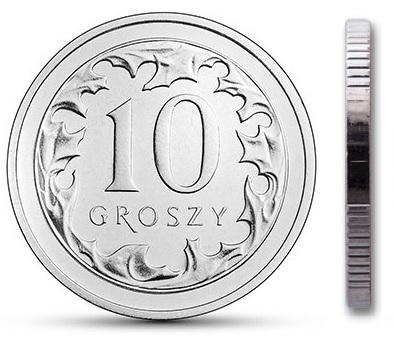 Чеканка 10 грошей 2003 г. с мешком