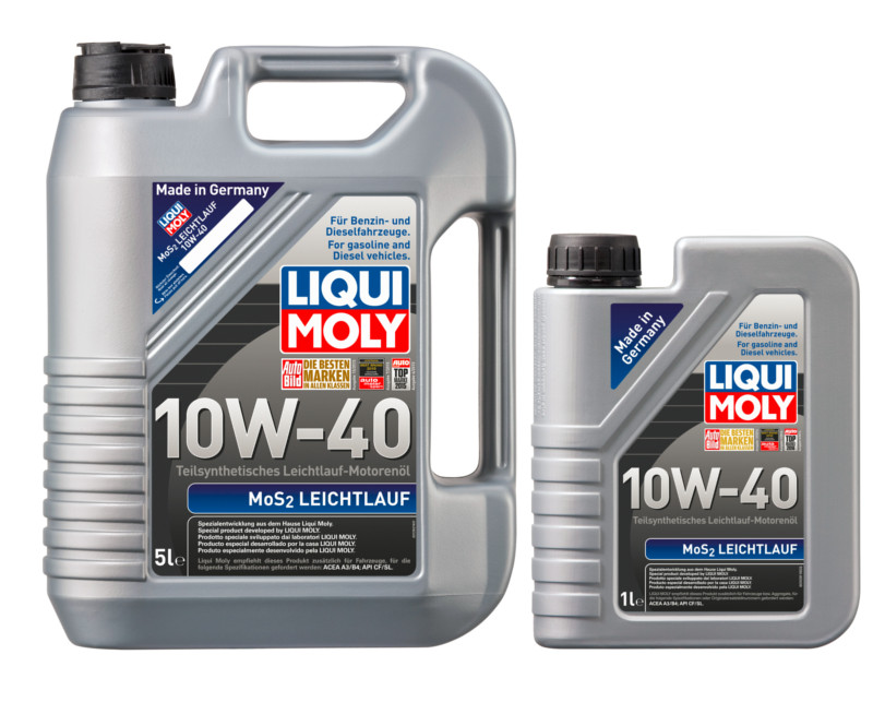 Немецкое масло Liqui Moly MoS2 Leichtluf 10W40 6Л