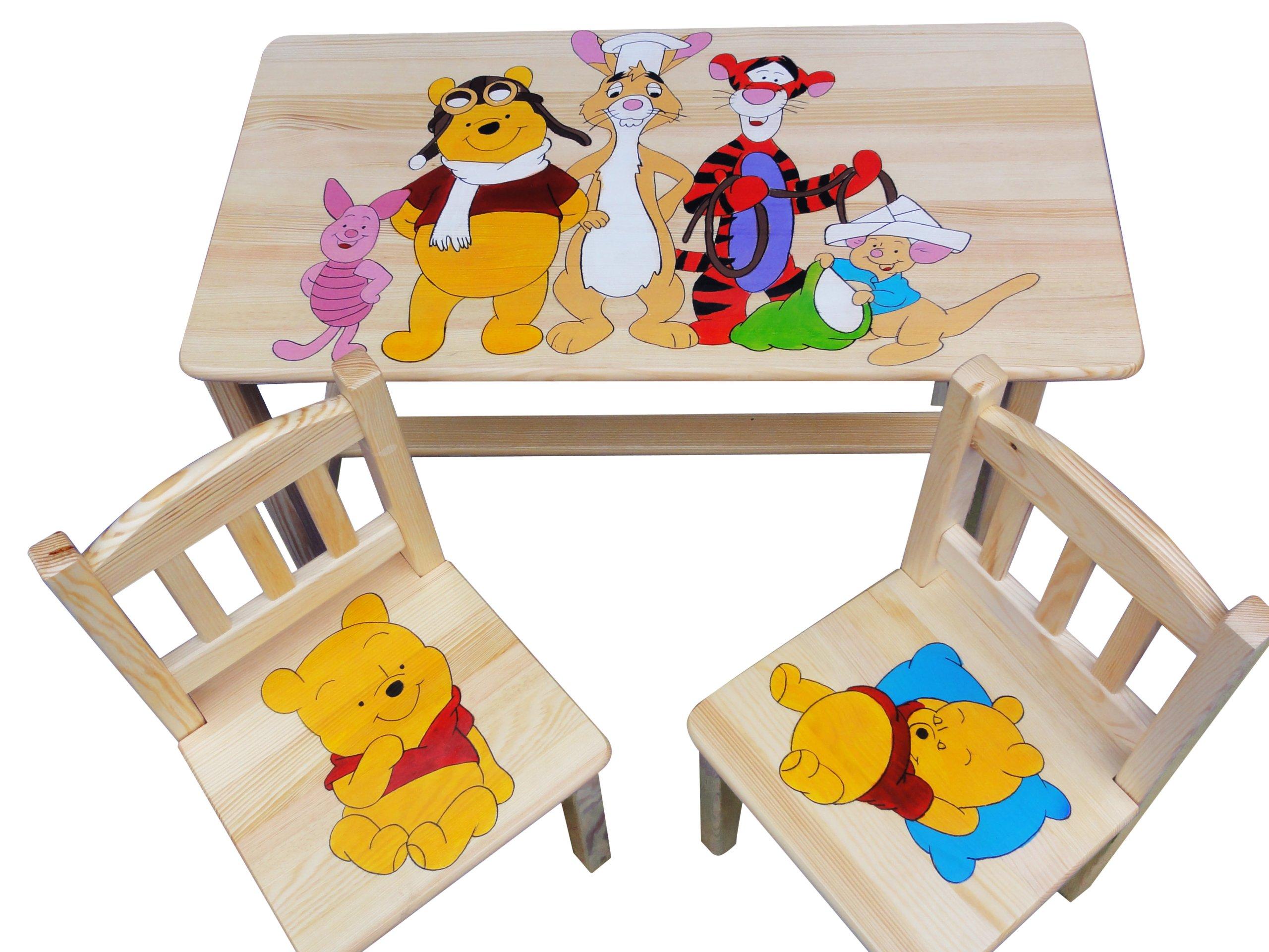 Mebelki Drewniane Dla Dzieci Stolik2 Krzesełka