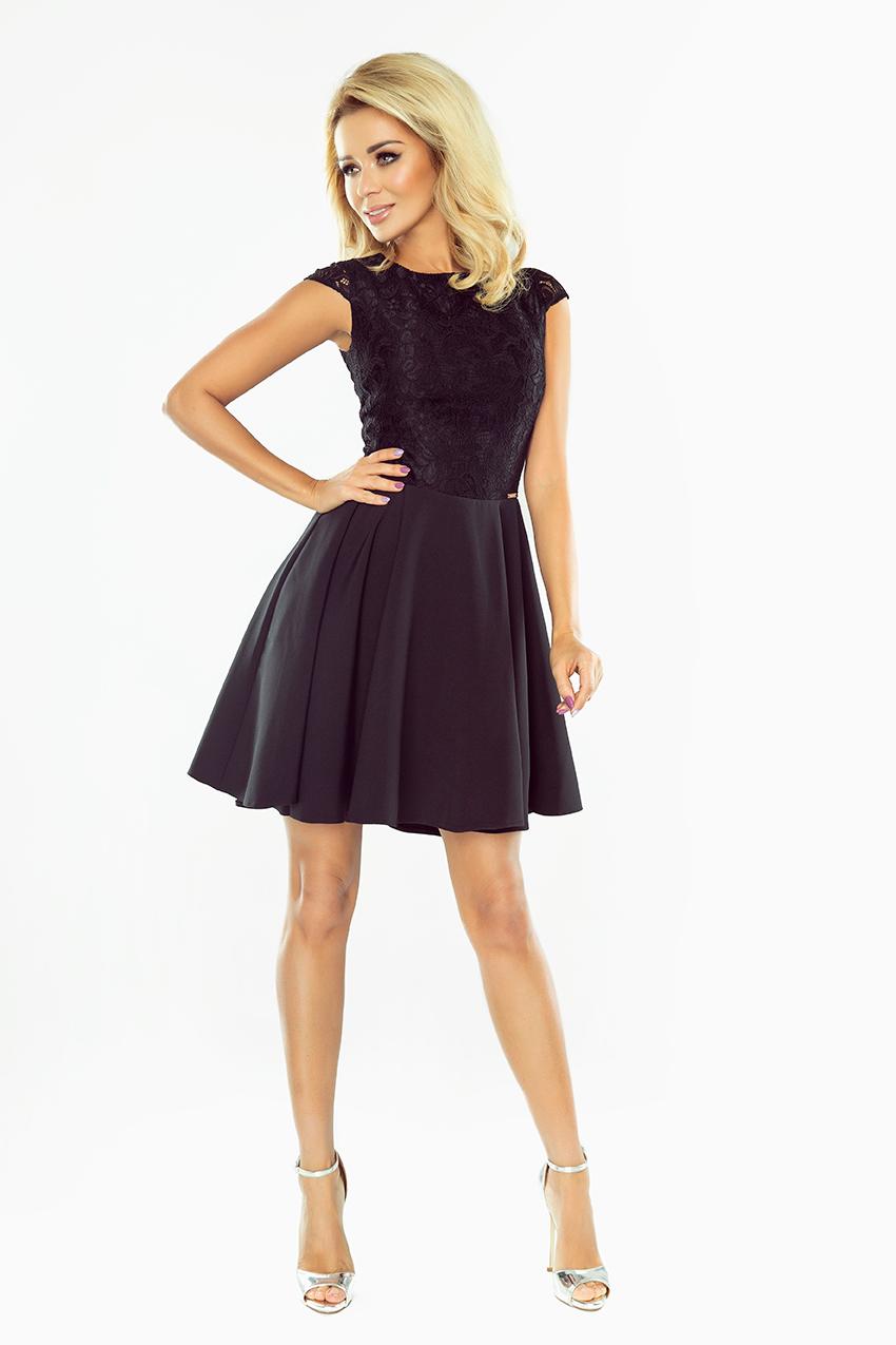 38ebaab518 Sukienka Marta czarna koronkowa sylwester 44 XXL - 7718939480 ...