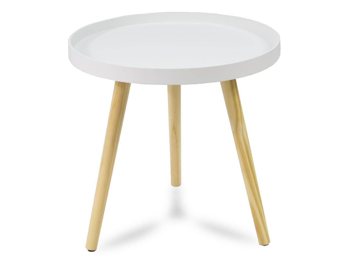 Mały Biały Stolik Kawowy 3 Nogi Drewniane Sk001nw 7142116931