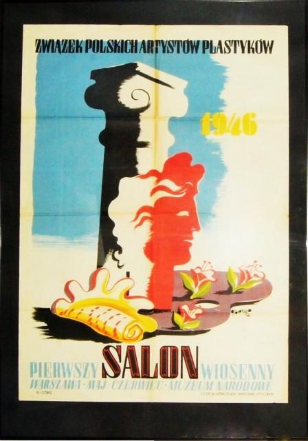 Gronowski Pierwszy Salon Wiosenny Plakat 1946 7057074702
