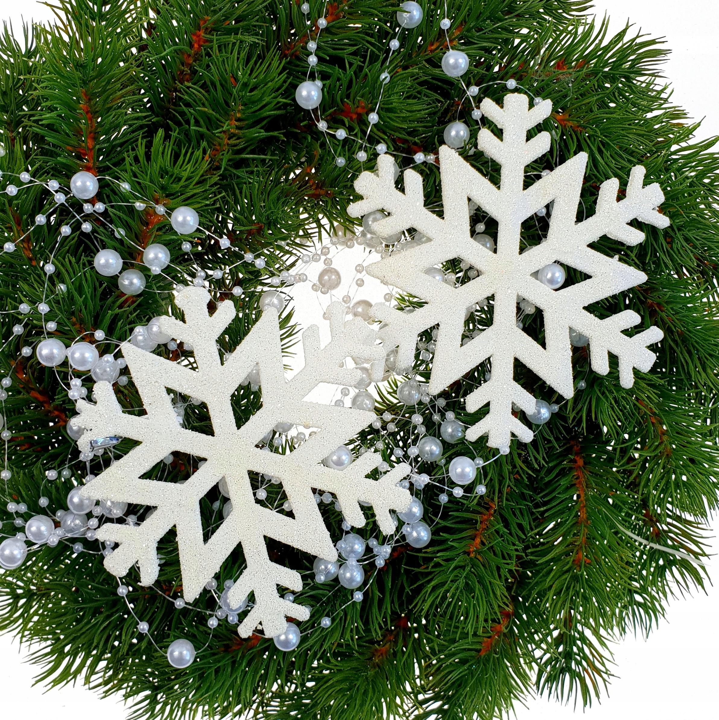 Zawieszka śnieżynka Dekoracja Choinka święta 2 Szt