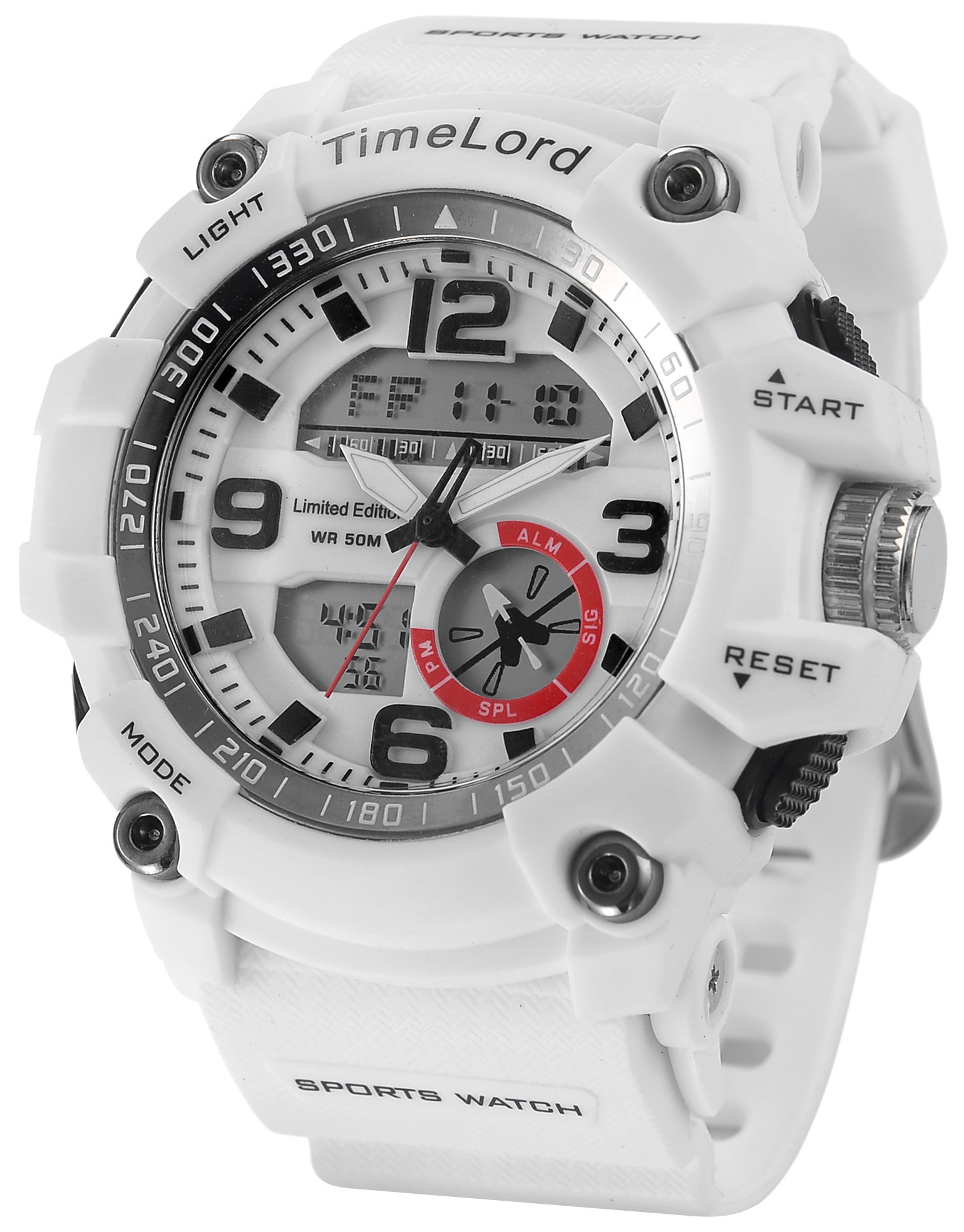 Damski Zegarek Sportowy TimeLord Biały Ideał HIT