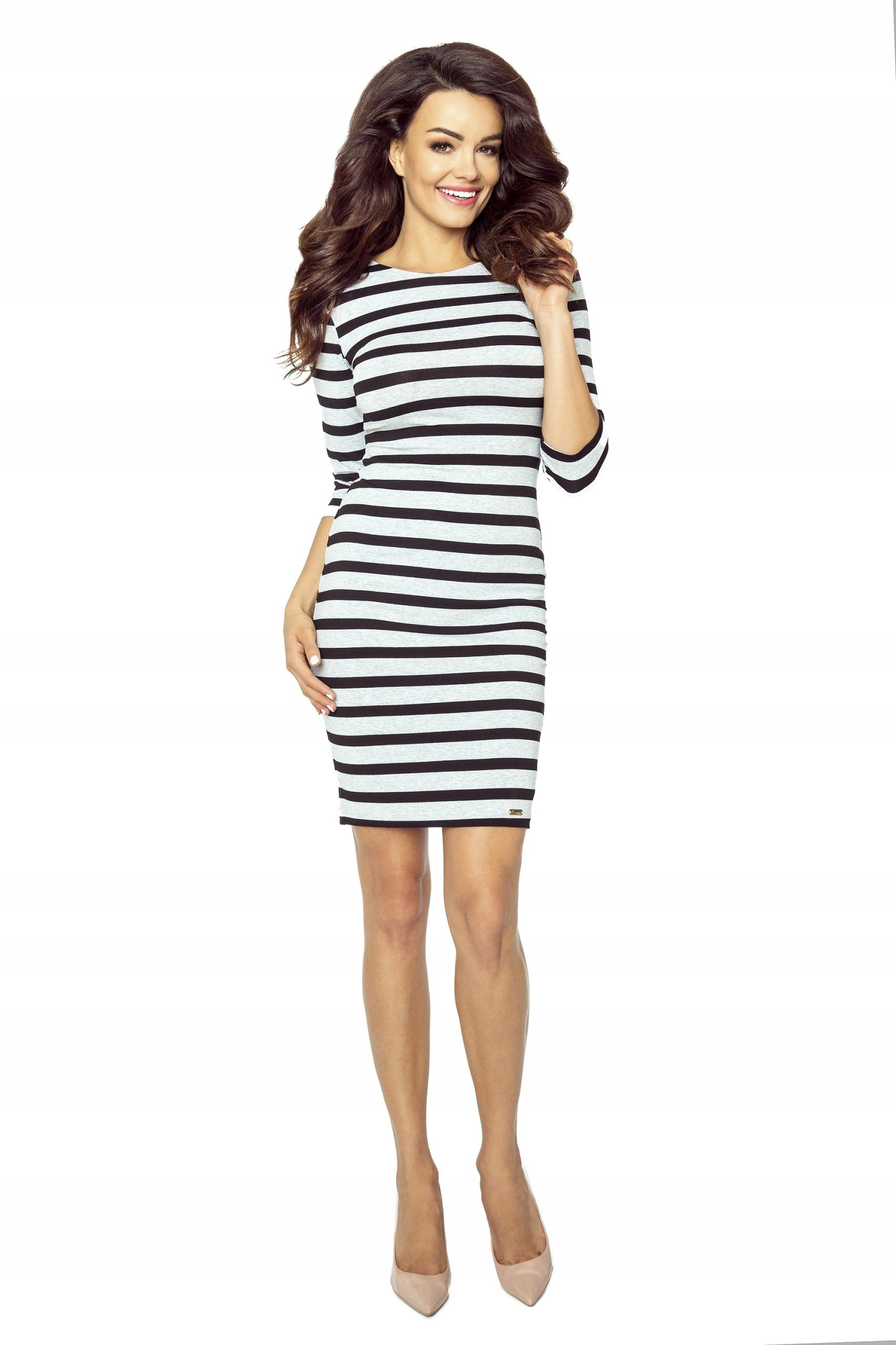 8ff92a82d1 Ołówkowa sukienka w czarno-białe paski M - 7714776281 - oficjalne ...