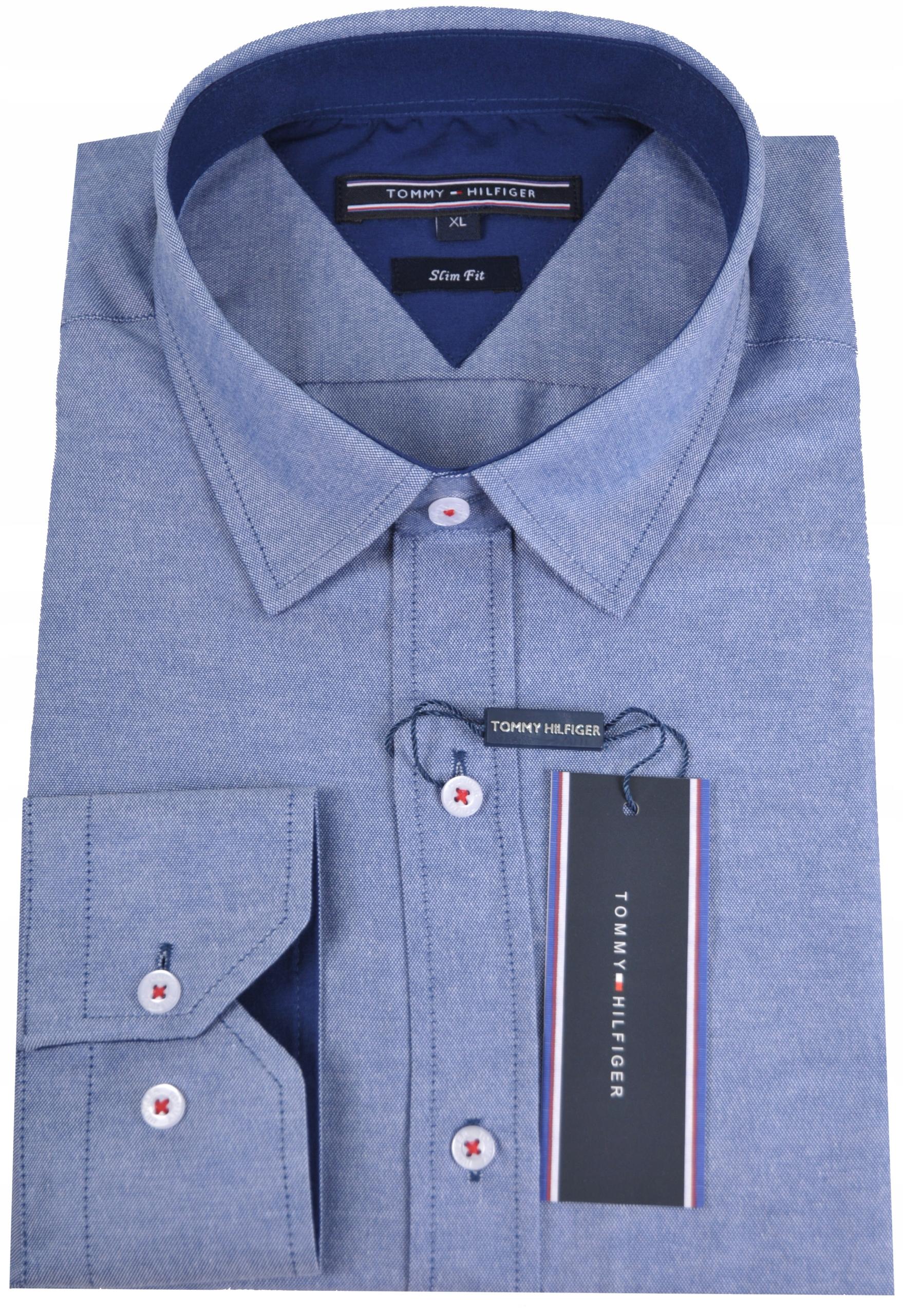 ebf110081f38b Koszula męska Tommy Hilfiger niebieska Slim Fit M - 7701257171 ...