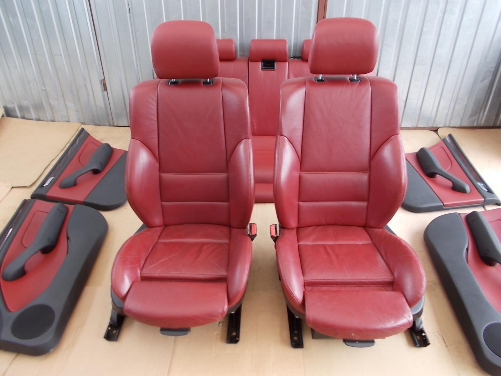 Fotele Czerwona Skora Sport M Pakiet Bmw E46 Kombi