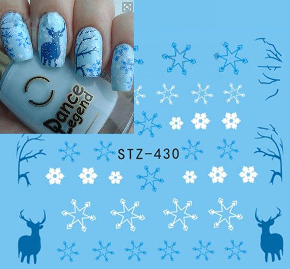 Naklejki Wodne Na Paznokcie święta Renifery śnieg 7071262734