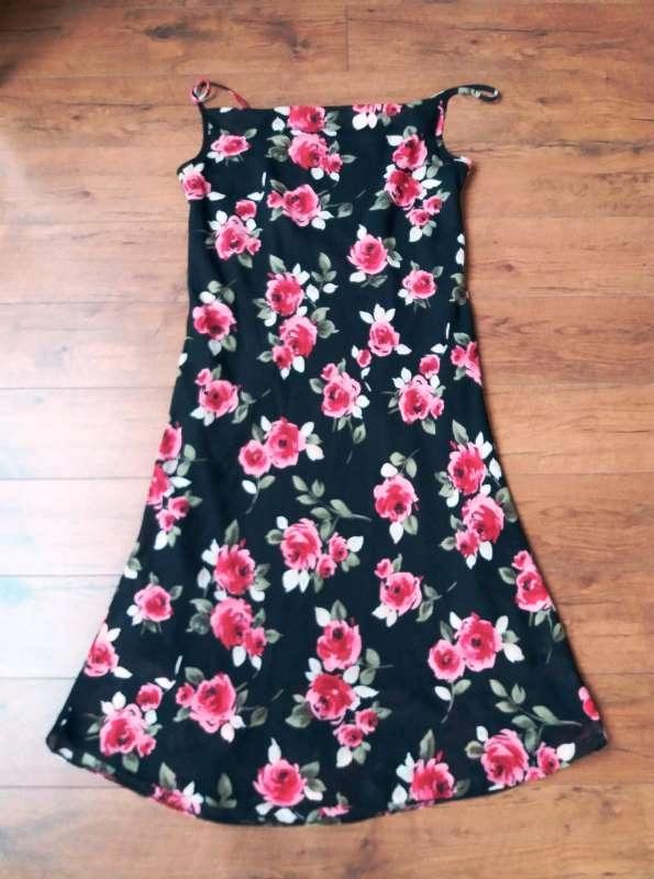 f65bdcc770 Sukienka damska L XL kwiaty sexi vintage - 7714039763 - oficjalne ...