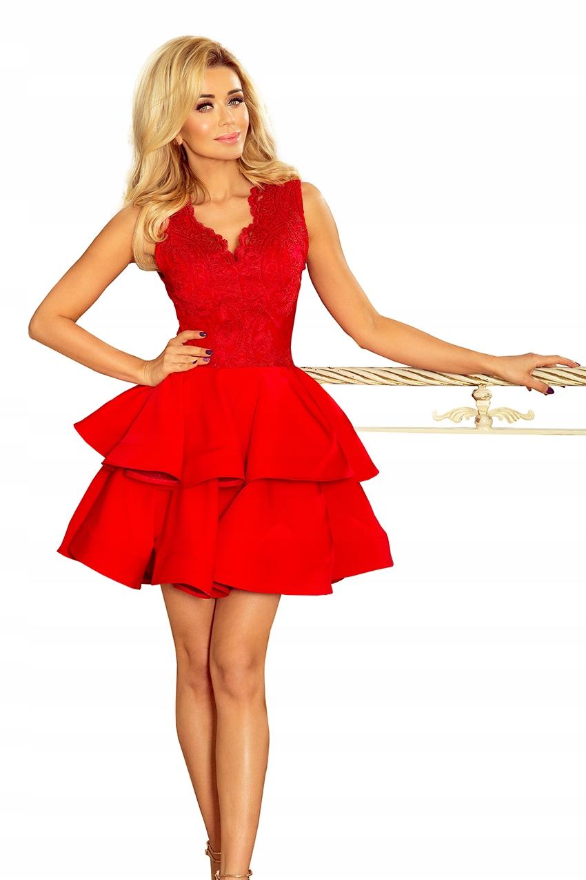 cad9aaebb9 Sukienka Czerwona Charlotte 200-4 Numoco M - 7442545536 - oficjalne ...