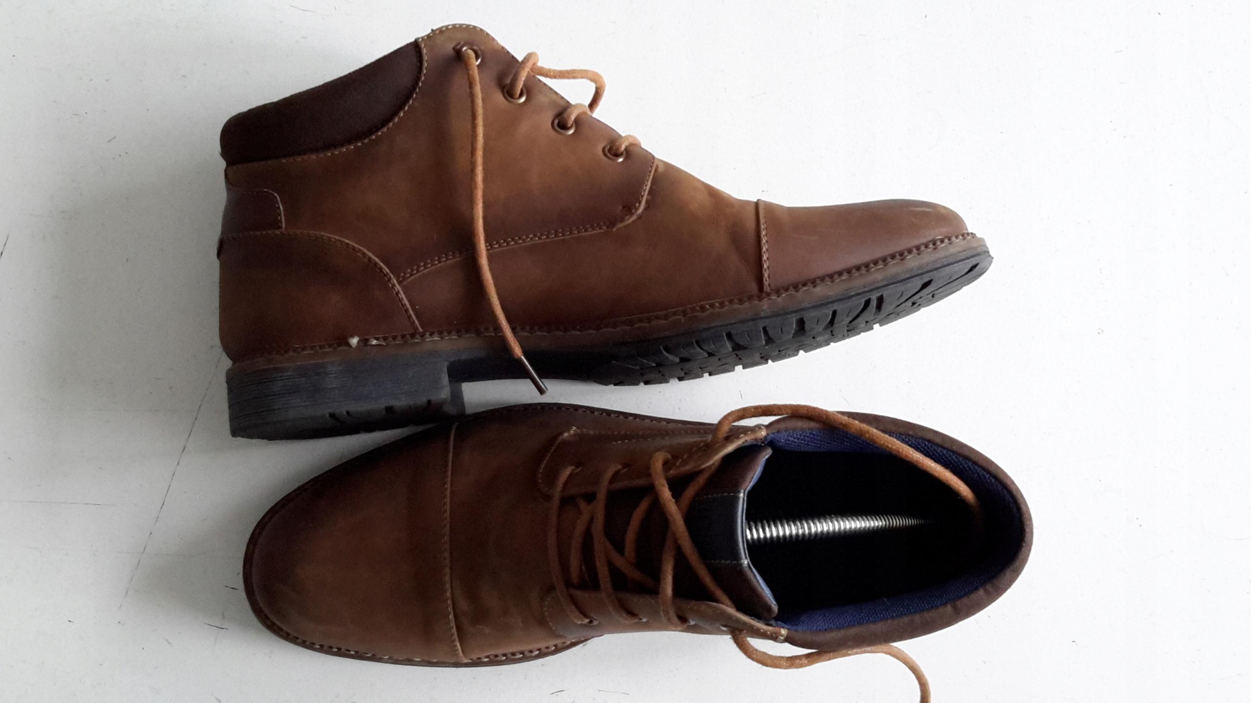 a35b59e4c4e44 HUGO BOSS buty skórzane męskie,do kostki,44/28 cm - 7695254065 ...