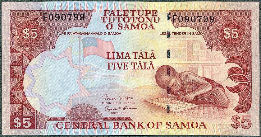 Samoa - 5 tala ND/2005 * P33b * poprzednia seria