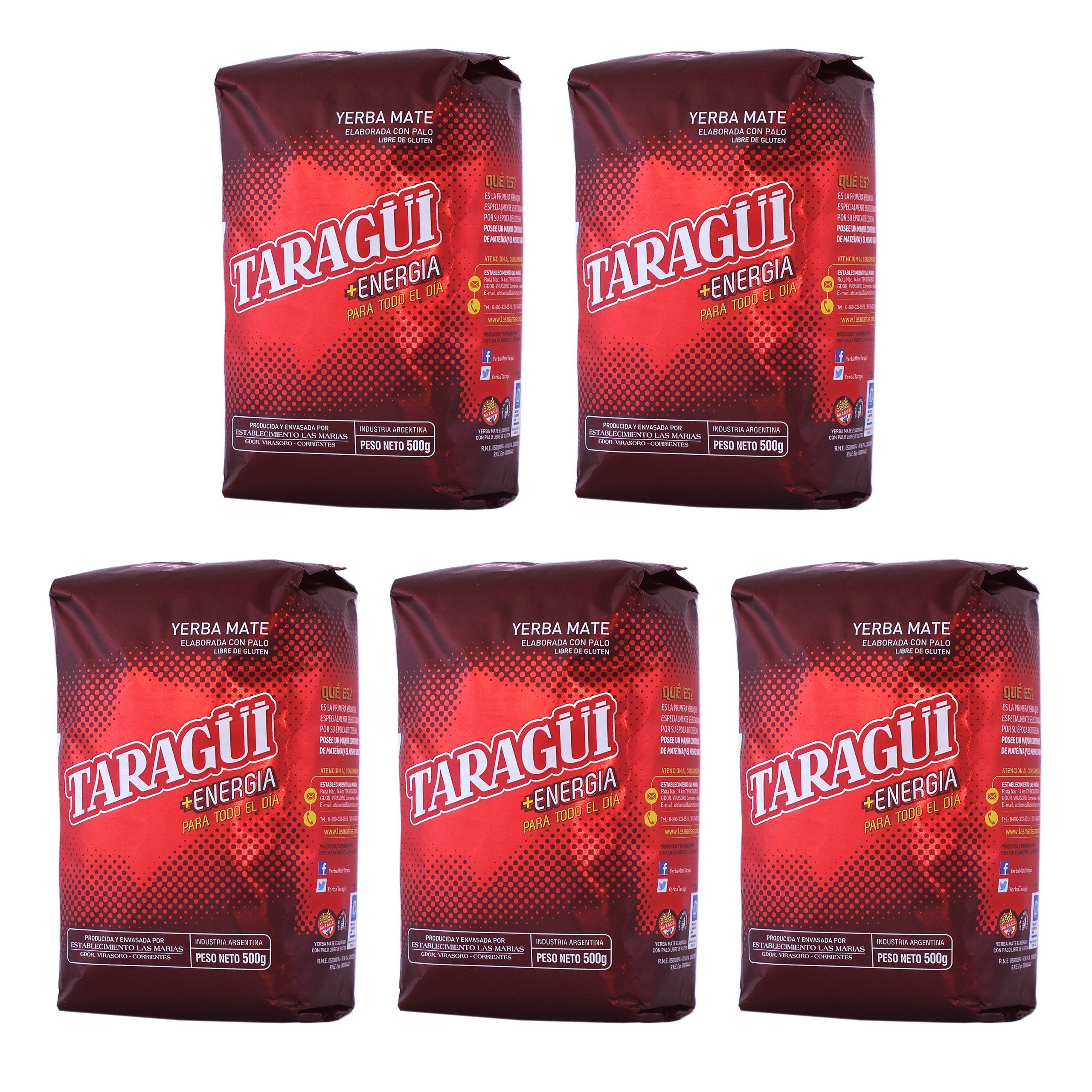 Yerba Mate 5x  TARAGUI 0,5kg Energia 500g = 2,5kg